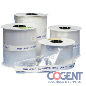 Kwik Fill Bag 5x5 1.9mil Preopen Roll Blk/Wht 2500/cs