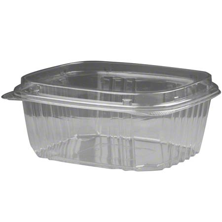 Deli Container Clear 32oz H/L Dome Lid 200/cs   AD32F