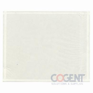 Packing list envelope 7-1/2x5.5 clear no print 1000/cs