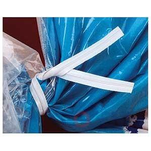 """Twist Tie 4"""" White Paper 3/16""""    2m/bx"""