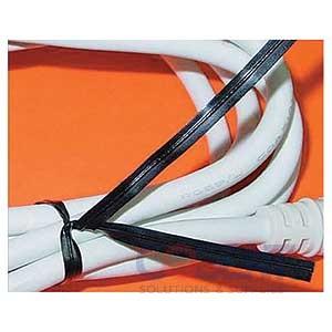 "Twist Tie 4"" Black Paper 5/32""    2m/bx"