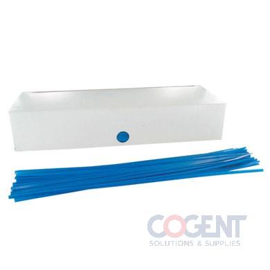 """Twist Tie 4"""" Blue Paper 5/32"""" 2m/bx 2350870200            BED"""