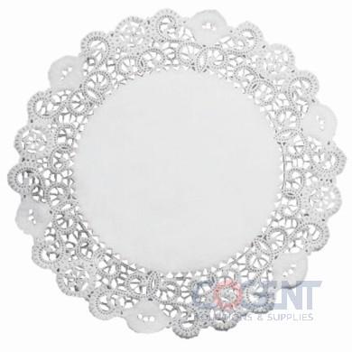 """Lace Doilie 5"""" White Round Hoff 2m/cs     LA905-2M"""