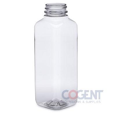 Bottle 16oz Square PET Clear 38mm 180/cs 16cs/plt 253571 BER