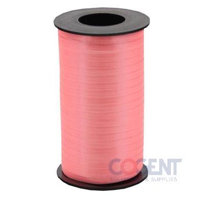 "Ribbon Curling Splend 3/16"" Coral  500yd/rl 12/cs      #173"