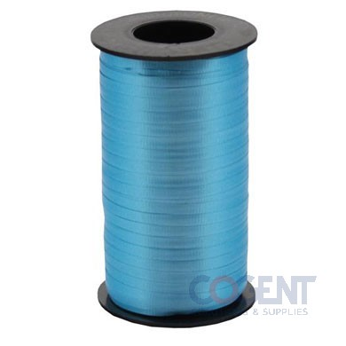 "Ribbon Curling Splend 3/8"" Turquoise 250yd/rl 12/cs   #310"