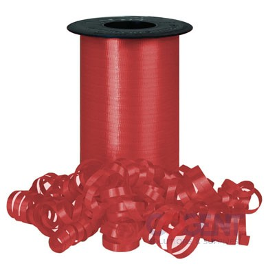 "Ribbon Curling Splend 3/8"" Lava Red 250yd/rl 12/cs  #3258"