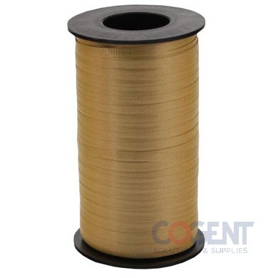 "Ribbon Curling Splend 3/8"" Holiday Gold 250yd/rl 12/c #359"