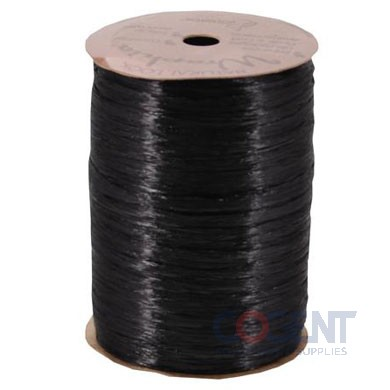 Pearlized Wraphia 100yd/rl Black           12rl/cs 7500026