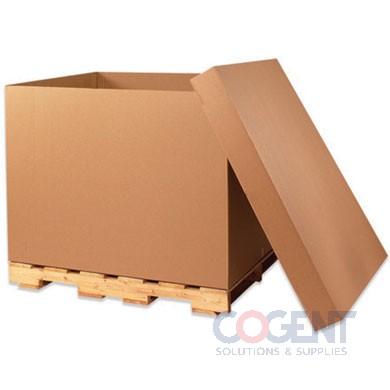 41x28-3/4x25-1/2 Bulk Container ECT51 Kraft DW 5/75 No Pallet *