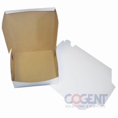 Bakery Box WHITE  LC  No WDW 10x10x4   6C-M 12C-R   100/cs