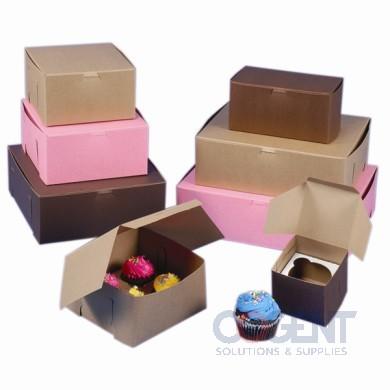 Bakery Box 8x8x5 Cocoa L/C 100/cs 885B-513              BO