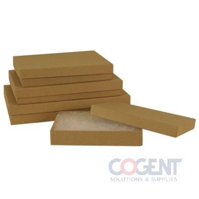 Jewelry Box Natural Kraft 3.5x3.5x1  w/Ctn 100/cs      33