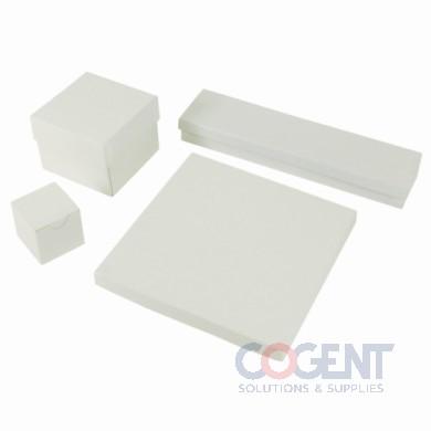 Jewelry Box White Krome 3.5x3.5x2     w/Ctn 100/cs   34