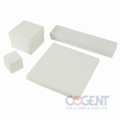 Jewelry Box White Krome 5-1/4x3-3/4x7/8 w/Ctn 100/cs 53