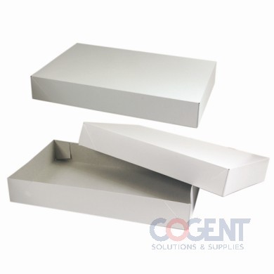 Apparel Box White Frost or Allg 10x7x1.25  2Pc 100/cs       610