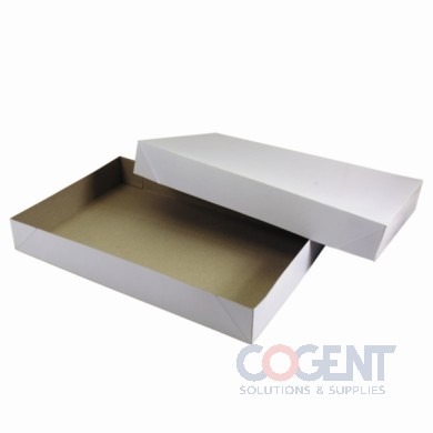 Apparel Box White Frost 19x12x3 2Pc 50/cs           619