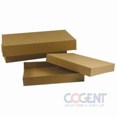 Apparel Box Rec Kraft Pinstripe 19x12x3 2Pc 50/cs           619