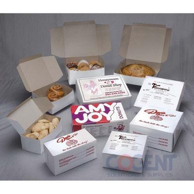 Bakery Cupcake Box White No Wdw 8x4x4 LC 2C-R/J     .018 200/cs