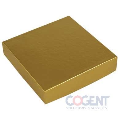 Lid 1 Pc Rigid Gold Gloss 6x6 50/cs                   L6