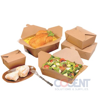 T/O Food Cont #4 Kft Bio-Plus Earth 7.75x5.5x3.5 160/cs    WR