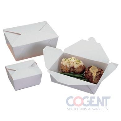 T/O Food Cont #8 Wht Bio-Pak Rect 6x4.75x2.5 300/cs       WR