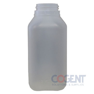 Juice Jug 12oz Square Plain w/Screw top lip  468/bag