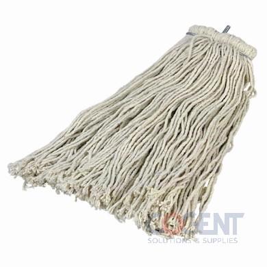 Mop Head #24 4 Ply Cotton Quick Screw White 12/cs