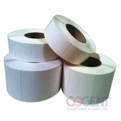 "Label Direct Thermal White 4""x6"" Perfd 1m/rl 4rl/cs"