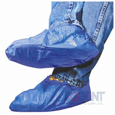 Shoe Covers Polyethylene Blue Textured & Impervious 150pr/cs