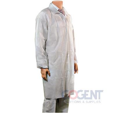 Lab Coat 2XL Wht Polyproplyene Elastic Wrist Snap No Pkt 25/cs