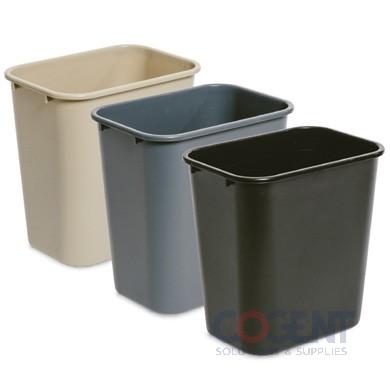 28 qt Wastebasket Black DLM 6ea/cs  8828-BK