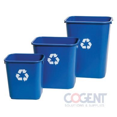 28 qt Deskside Container Blue Recycling 12ea/cs 8828-BL   DLM