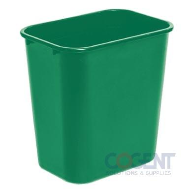 28 qt Deskside Wastebasket Green DLM