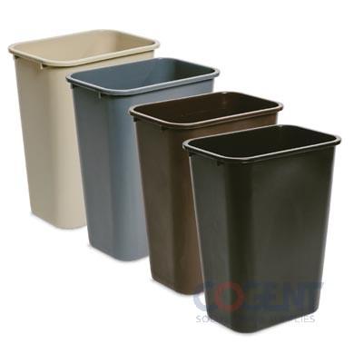 41 qt Deskside Container Black DLM  6ea/cs