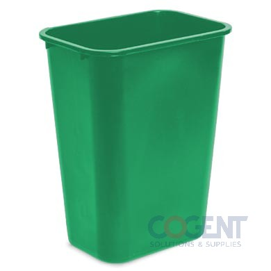 41 qt Deskside Container Green w/ Recycle Logo DLM