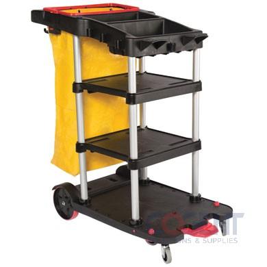 Janitor Cart 3-Shelf Black DLM