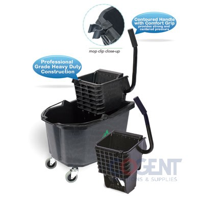 26 qt Side Press Wringer Bucket Combo Black, DLM