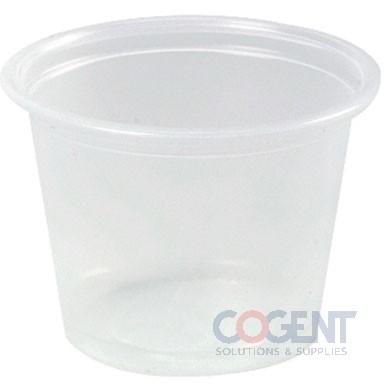 Plastic Portion Cup 1oz Translucent  2500/cs