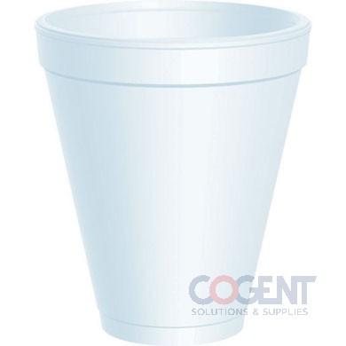 Cup Drink 12oz White Foam 1m/cs