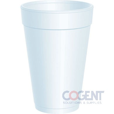 Cup White Foam 16oz 1m/cs