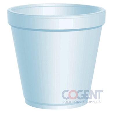 Container Squat White 16oz Foam 500/cs