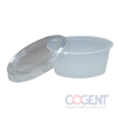 Portion Cup 3.25oz Translucent 2500/cs