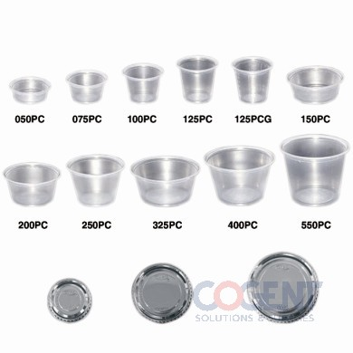 Plastic Lid for 3.25/4/5.5oz Portion Cups 2.5m/cs