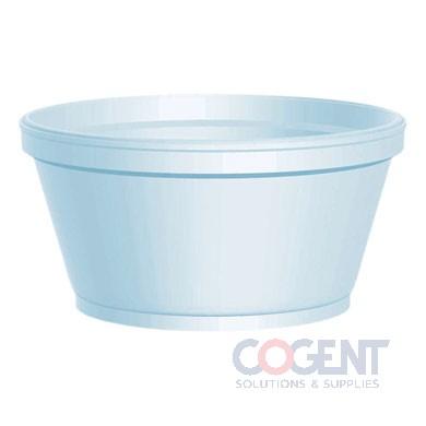 Container Foam 8oz Squat White 1m/cs