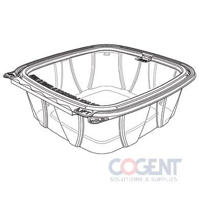 Cont Clear PET H/L 48oz Tamper Resist Flat Lid 200/cs