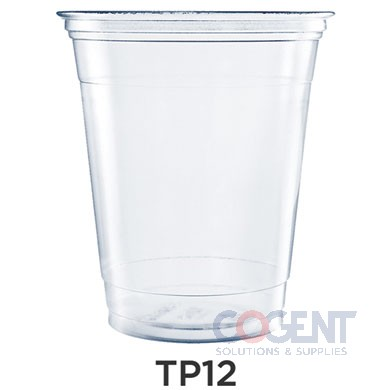 Cold Cup 12oz Clear Plastic PETE 1m/cs