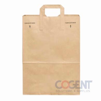 Grocery Bag 1/7 BBL Hdl Dwn 70# 100% Recy 12x7x14 300/bl    DUR