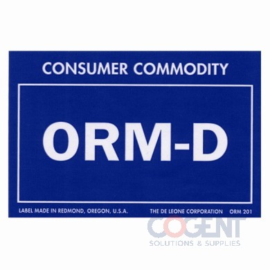 Label Consumer Commodity 2x3 Blue Prt White 1000/rl   ORM201