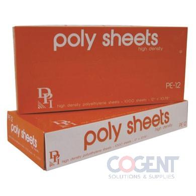 Poly Sheet HD Deli 12x10.75 Interfold  1000/bx  10bx/CS